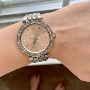 Michael Kors Darci Silver + Rose gold watch